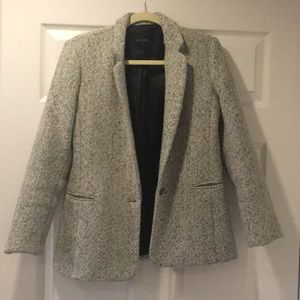 BR Factory Black & Ivory Tweed Blazer
